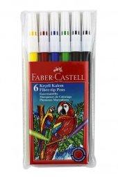 Faber-Castell Keçeli Kalem 6 Renk Yıkanabilir 5067155106 1100.88581