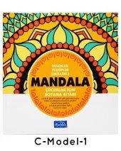 Çocuklar İçin Mandala Boyama 12 Renk Faber Castell Kuru Boya-2