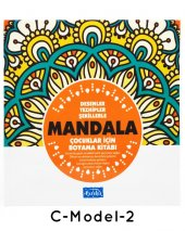 Çocuklar İçin Mandala Boyama 12 Renk Faber Castell Kuru Boya-5