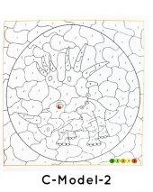 Çocuklar İçin Mandala Boyama 12 Renk Faber Castell Kuru Boya-7