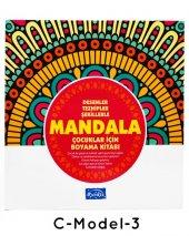 Çocuklar İçin Mandala Boyama 12 Renk Faber Castell Kuru Boya-8