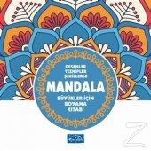 Desenler Tezhipler Şekillerle Mandala Mavi