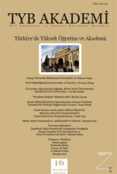 TYB Akademi Dergisi Sayı: 16 Ocak 2016/Kolektif