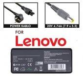 Lenovo Thinkpad X100E  Adaptör 20V 4.5A 7.9 x 5.5 mm