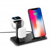Kablosuz Şarj Aleti İphone Airpods Apple Watch 1 2 3 4 5 Hızlı Şarj 10w Type C Stand Çoklu Şarj