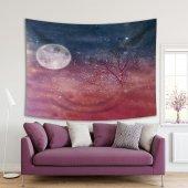 Dal Gece Gökyüzü Yıldız Desenli Duvar Örtüsü