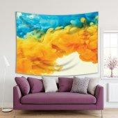 Su Renkli Damla Desenli Duvar Örtüsü