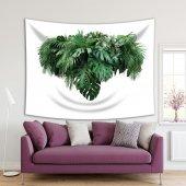 Tropikal Yeşillik Yaprak Desenli Duvar Örtüsü