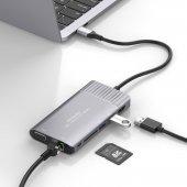 Type C Hdmı Vga Ethernet Dönüştürücü Yeni Macbook Pro Stand Usb 3.1 Kart Okuyucu 4k Full Hd 1080p