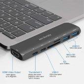 Type-C Dönüştürücü HDMI 4K UHD Adaptör Yüksek Veri Transferi Destekli Dual Girişli-3