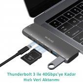 Type-C Dönüştürücü HDMI 4K UHD Adaptör Yüksek Veri Transferi Destekli Dual Girişli-5