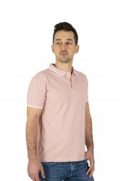 Erkek Pembe Polo Yaka T-shirt-2
