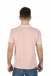 Erkek Pembe Polo Yaka T-shirt-3