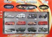 Street Machine 16lı Metal Oto Seti