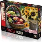 1000 Parça Fruit And Sunflower Puzzle