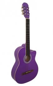 Mor Klasik Gitar C 390 Cuteaway Pp Tam Boy 39 4 4