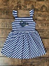 Edel Weiss Kız Çocuk Çizgili Elbise 40965