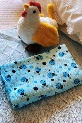 Mavi Uğur Böcekli Anne Emzirme Önlüğü 75*100