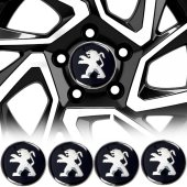 Peugeot Jant Göbeği Göbek Arması Sticker 4lü Set Carmaniaks CRME0494