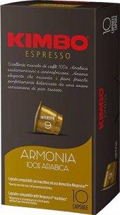 Kimbo Armonia 100 Arabica Nespresso Kapsül Kahve (10 Luk Kutuda)