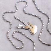 Rudi Gitar Modelli Çelik Kolye Ucu 4P8D16