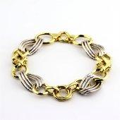 Altın Kaplama Zincir Halka Gümüş Hallow Model...