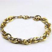 925 Ayar Gümüş Altın Kaplama Hallow Zincir...