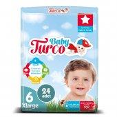 Baby Turco Bebek Bezi 6 Numara Xlarge 24 Adet-2