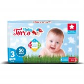 Baby Turco Bebek Bezi 3 Numara Midi 50 Adet-2