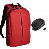 Classone Pr R152 15.6 Notebook Çantası Kırmızı+kablosuz Mouse