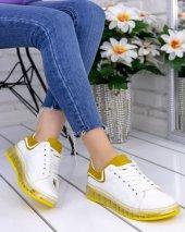 Lumi Beyaz Cilt Sarı Tabanlı Spor Ayakkabı