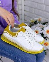 Lumi Beyaz Cilt Sarı Tabanlı Spor Ayakkabı-2
