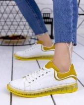 Lumi Beyaz Cilt Sarı Tabanlı Spor Ayakkabı-3