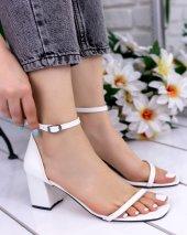 Dalia Beyaz Cilt Topuklu Ayakkabı