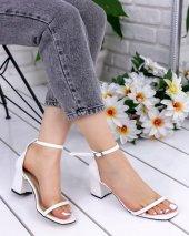 Dalia Beyaz Cilt Topuklu Ayakkabı-2