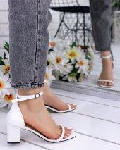 Dalia Beyaz Cilt Topuklu Ayakkabı-3