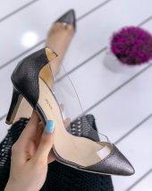 Miya Gri Cilt Stiletto Ayakkabı