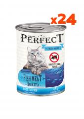 Perfect 24 Adet Konserve Kedi Maması Balık Etli...