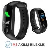 M3 Akıllı Saat Kol Bandı Smart Adımsayar Android İphone Uyumlu