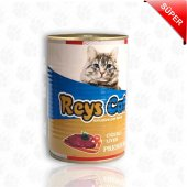 Reys Cat Ciğerli Konserve Kedi Maması 415 Gr 24 Adet