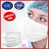 Cerrahi Maske 3 Katlı Telli Ultrasonik 100 Adet