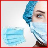Ultrasonik Cerrahi Maske 3 Katlı Telli 100 Adet