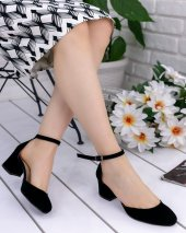 Zoey Siyah Süet Topuklu Ayakkabı