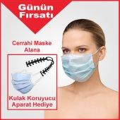Ultrasonik Cerrahi Maske 3 Katlı Telli 50 Adet
