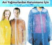 Tek Kullanımlık Şeffaf Yağmurluk 10lu Kıyafet Koruyucu