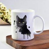 Ekupam Kara Kedi Baskı Kupa Bardak