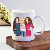 Ekupam Üçlü Kız Arkadaşlar Baskı Kupa Bardak
