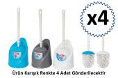 Ceymop Klozet Takımı Tuvalet Fırçası Muhafazalı 4 Adet