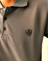 Polo Tişört England London Polo Club Erkek Tişört Polo Yaka Gri