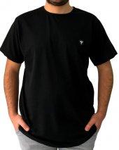 Polo Tişört England London Polo Club Erkek Tişört Büyük Beden Siyah